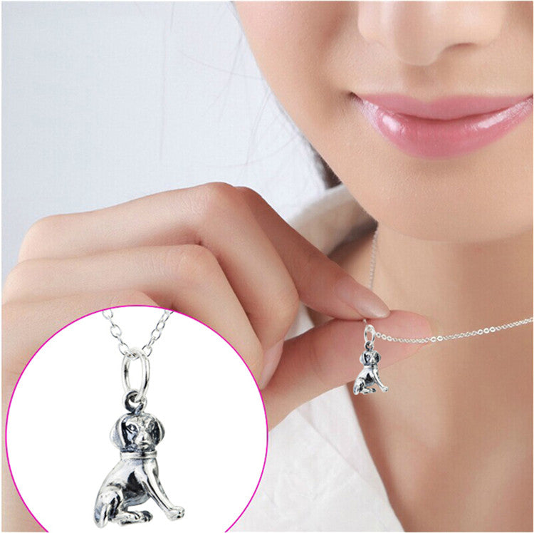 Dog Pendant Sterling Silver