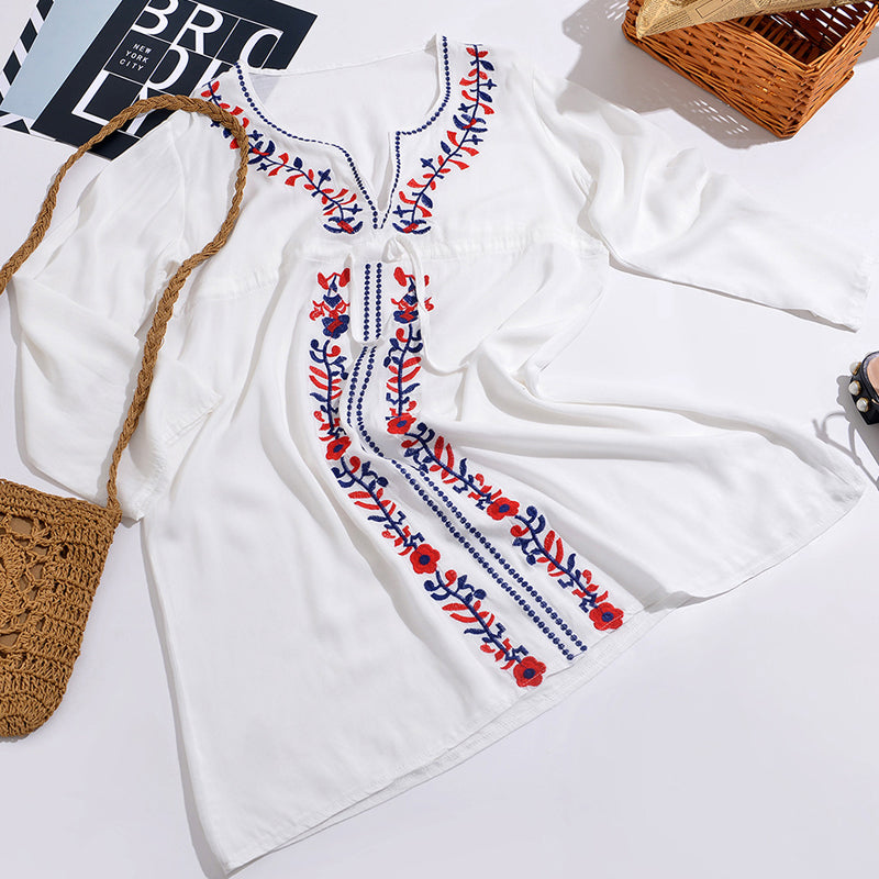 Embroidered Beach dress