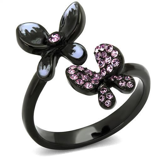 Black butterfly Stainless Steel Ring