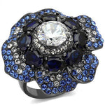 Black & Blue on Steel Ring
