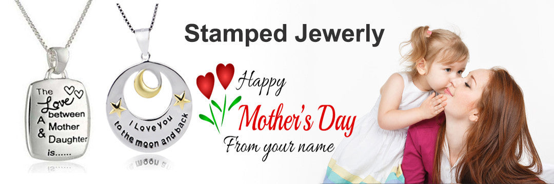 stamped jewelry happy mother's day