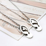 Creative Slippers Couples Necklaces