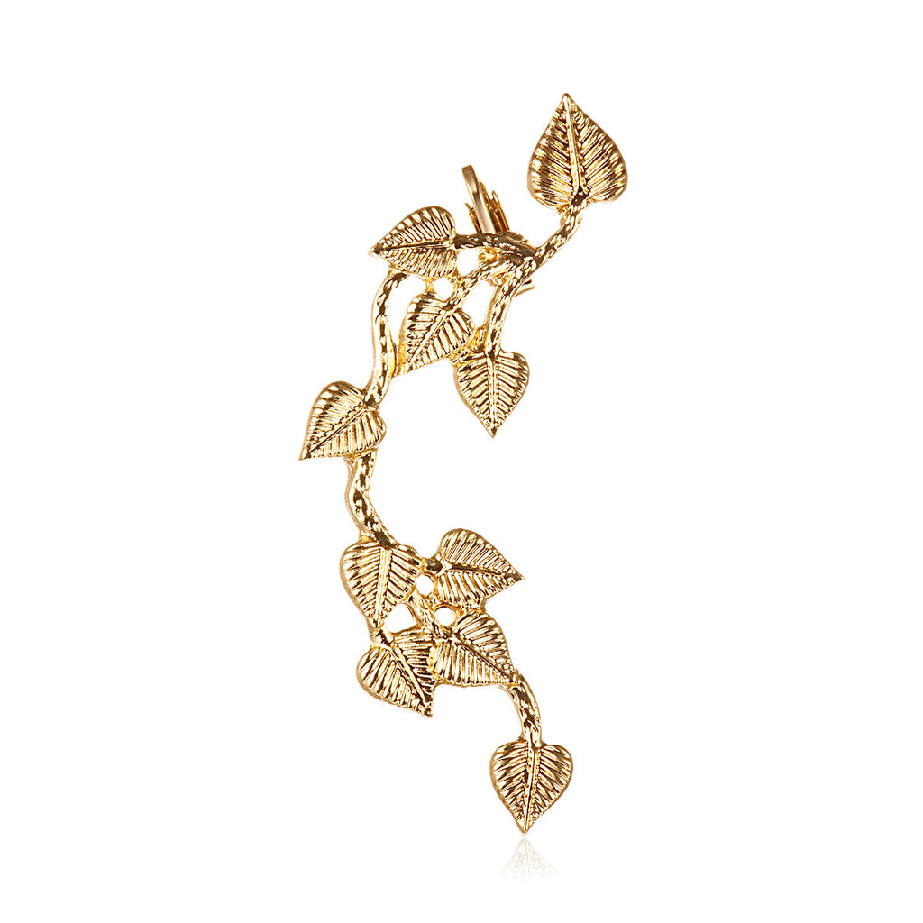 Gold Leaves Alloy Cuff Earring