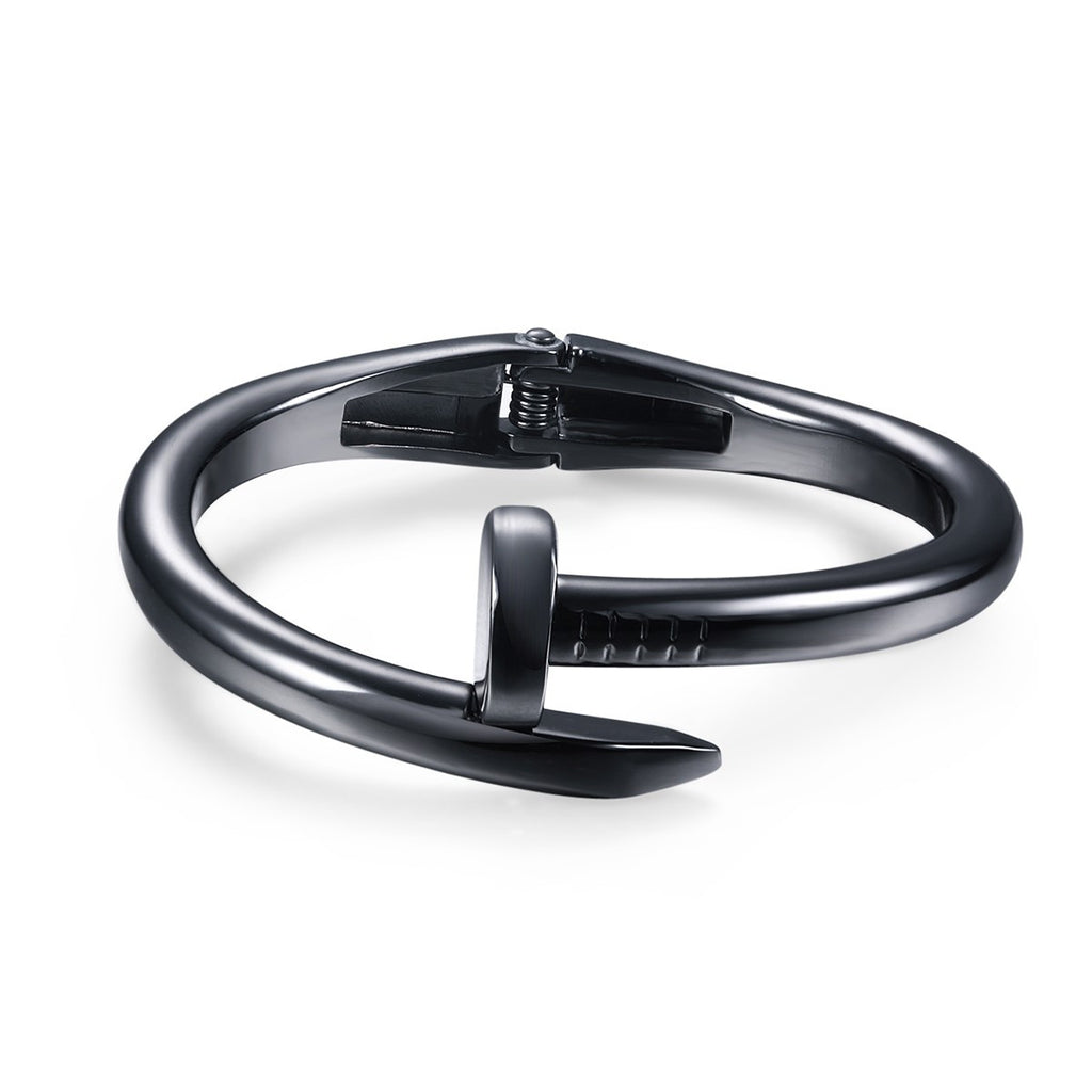 Black Nail Alloy Women Bangle Bracelets