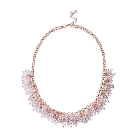 Light Pink Acrylic Gold Chain Charm Choker Necklace
