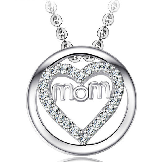 Mother's Jewelry - Mom's Heart 925 Sterling Silver Necklace