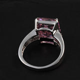 Carmine Rectangle Ring