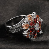 Luxury Three Color Diamond Ring