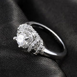 Platinum Plated Double Bordered Ring