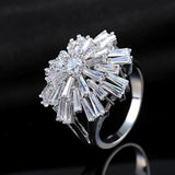 Platinum Plated Snowflake Ring