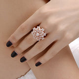 Rose Gold Snowflake Ring