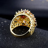 18k Gold Plated Luxury Diamond Ring