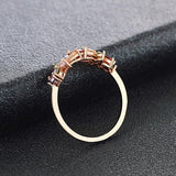 Rose Gold Diamond Iris Ring