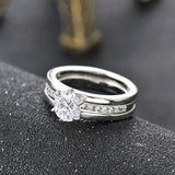 Platinum Plated Diamond Engagement Ring