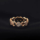 Rose Gold Hollow Heart-Shaped Ring