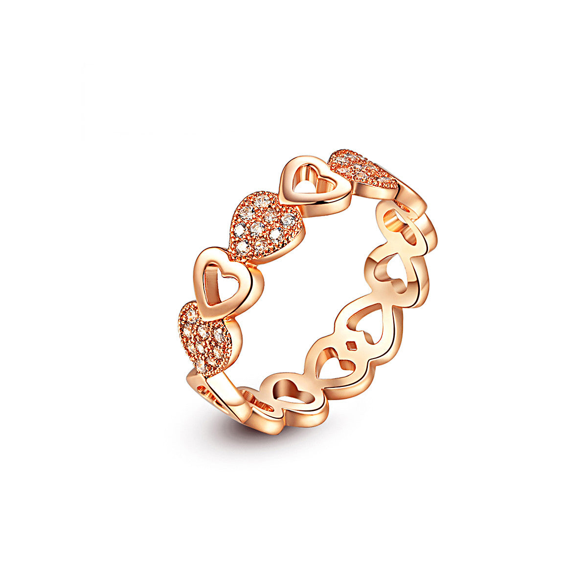 Rose Gold Hollow Heart Shaped Ring