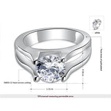 Round Diamond Encrusted Engagement Ring