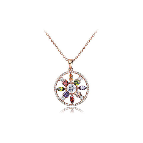 Rose Gold Colorized Diamond Torus Necklace
