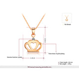 Rose Gold Crown Pendant Necklace