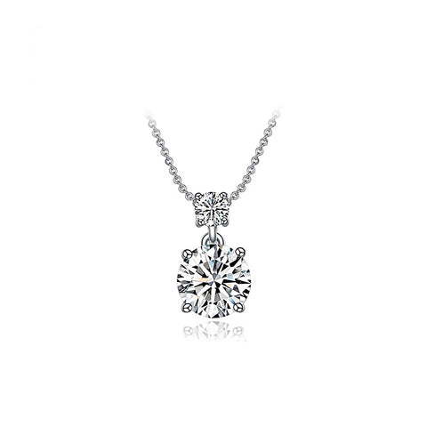 Platinum AAA Zircon Pendant Necklace