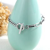 Virgin Mary Titanium Steel Charm Women's Bracelet