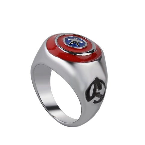 Captain's Shield Titanium Steel Avengers Unisex Ring