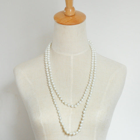 Minimalist Design Natural Pearl Chain Necklace