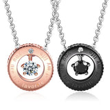 Personalized Round |You are the Favorite of My Life| Couple Necklaces