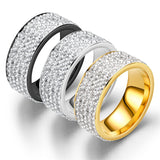 High Fashion 5 Layers Zircon Inlaid Unisex Ring