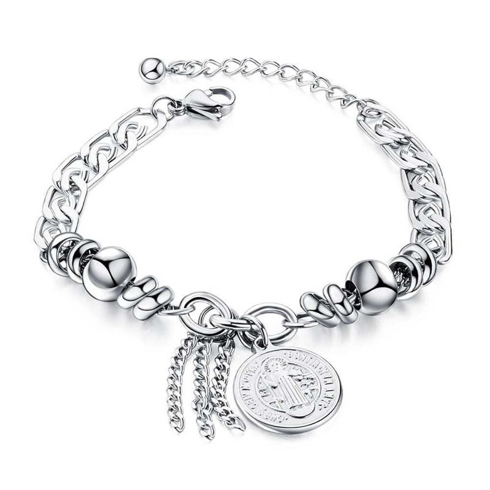 Catholic Cross Charm Bracelet
