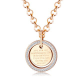 You Are My Everything Stainless Steel Rose Gold Plated Necklaces
