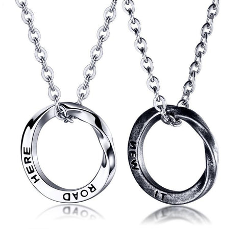 Mobius  Stainless Steel Men's Necklace