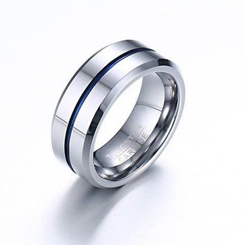 Simple Titanium Men's Engagement Ring