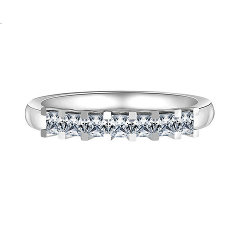 Elegant Quadrate Zircon Bridge Pattern Hollowed 925 Sterling Silver Statement Ring