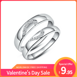 Valentine's Day Sale Heart Sterling Silver Couple's Rings