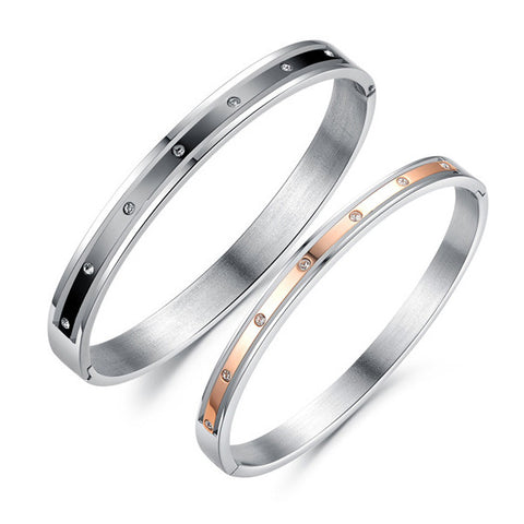 Couple's Classic Aesthetic Quality Bracelets Inlaid Zircon