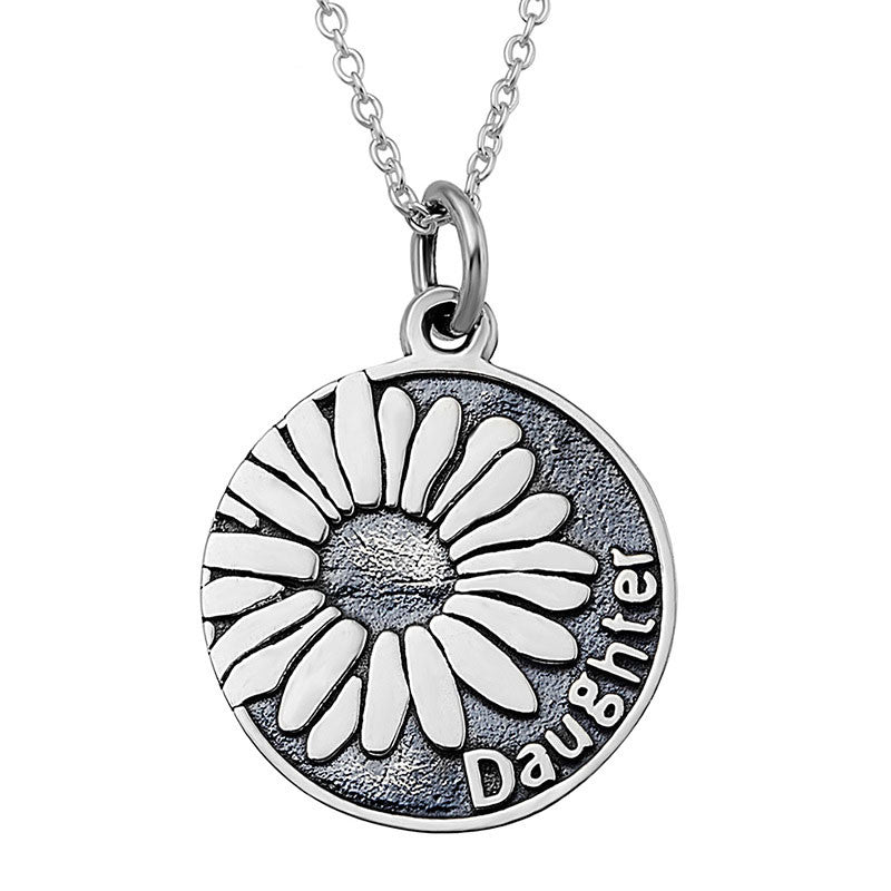 Sterling Silver Sunflower Pendnat Necklace