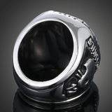 Cowboy Champion Titanium Zircon Diamond Inlay Men's Ring