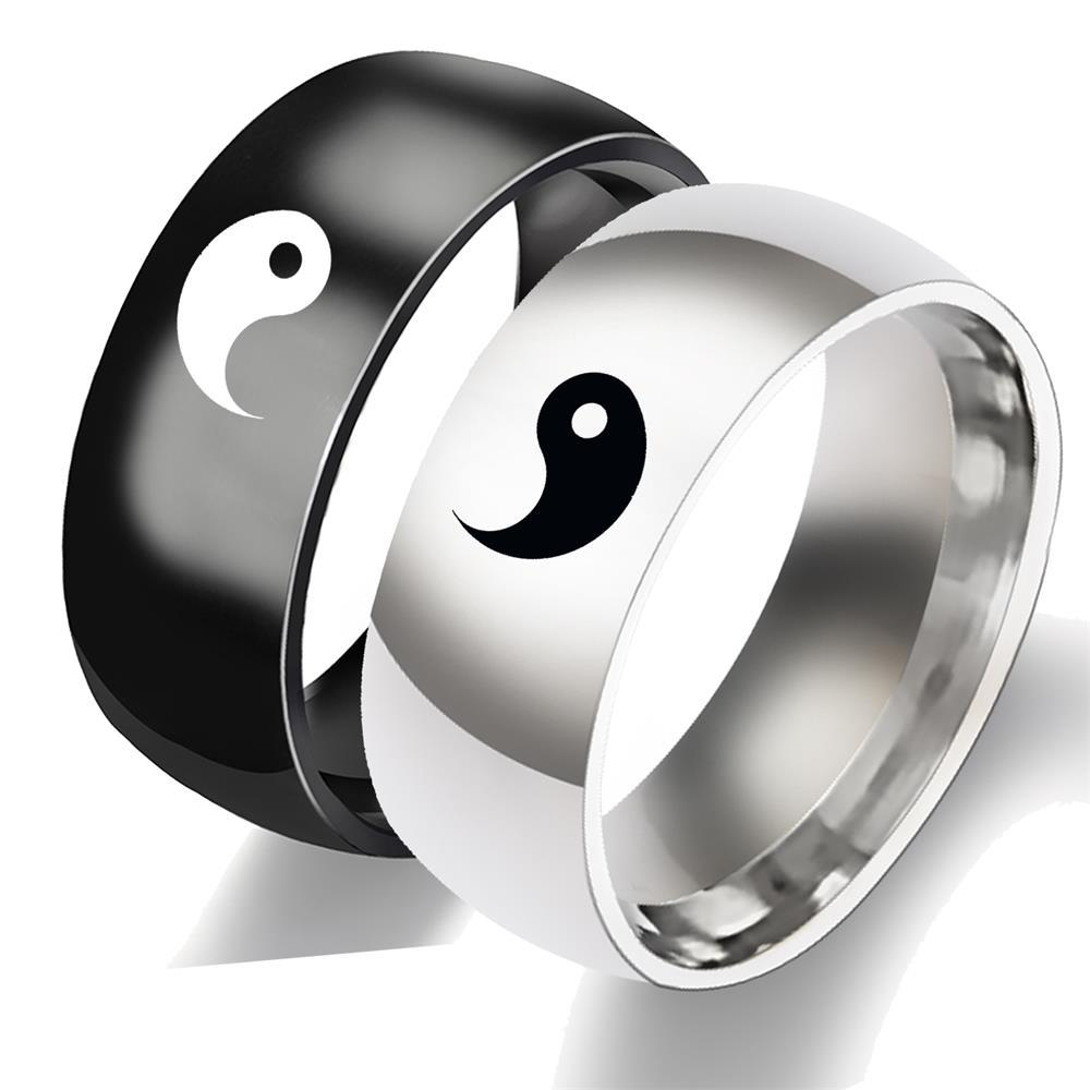 Traditional Chinese Taichi Couple Rings