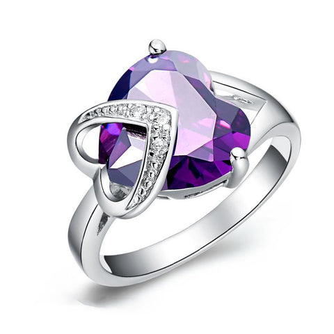 Heart Cubic Zirconia 925 Sterling Silver Ring