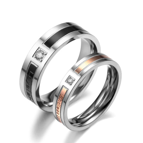 Personalized 'Loyal And Steadfast' And 'Endless Love' Lover's Rings