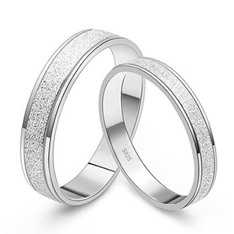 Personalized Couple's Rings Daily Simple Titanium Steel Silver