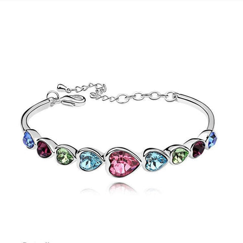 """My heart will go on"" Austrian Crystal Heart-shaped Women's Bracelet"