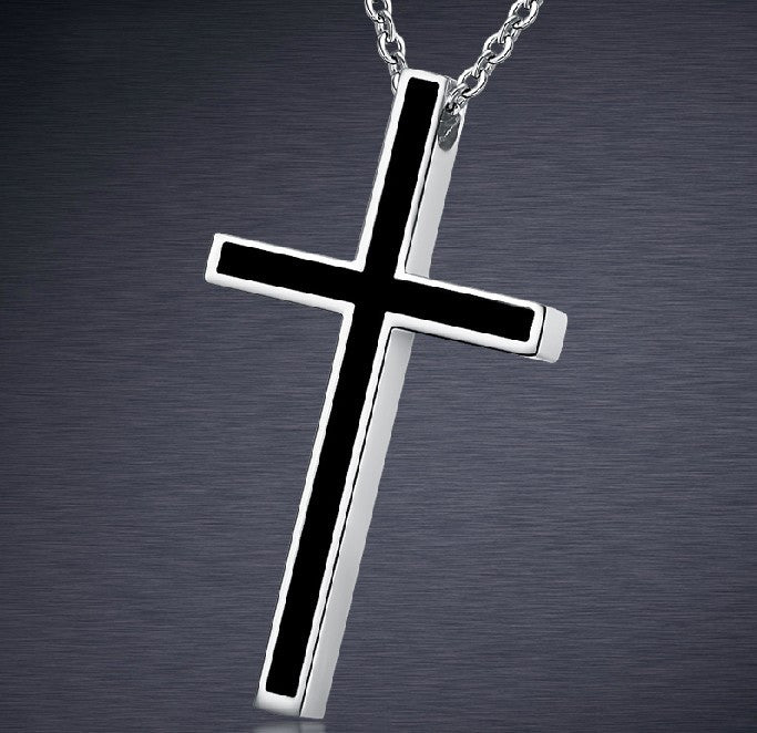 Titanium Steel Cross Unisex Men Necklace