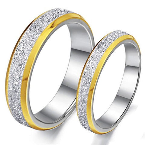 dull-polish-titanium-steel-engravable-lover-rings-with-golden-edge