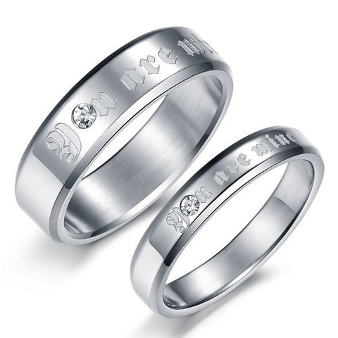 "Personalized ""You Are Mine"" Lover Couple Rings"