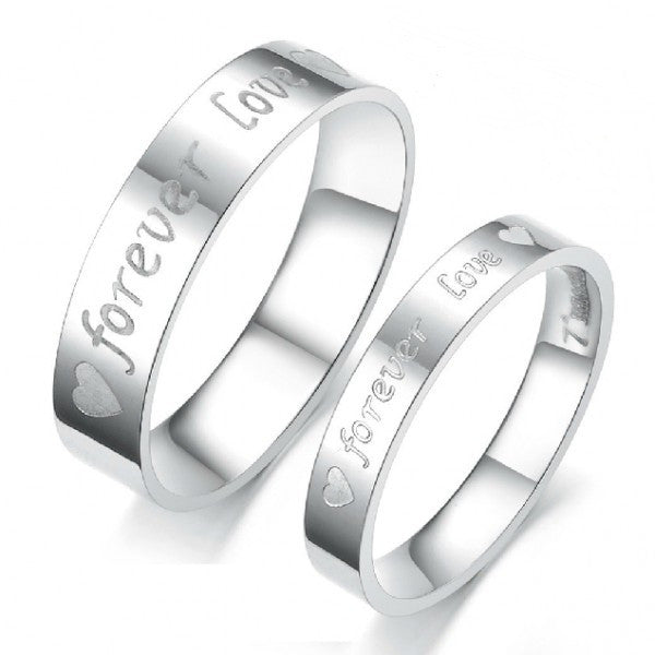 Personalized Forever Love Titanium Steel Matching Lover Rings
