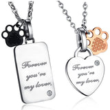 Personalized Titanium Crystal Heart-shaped Lover Necklaces(Price For A Pair)