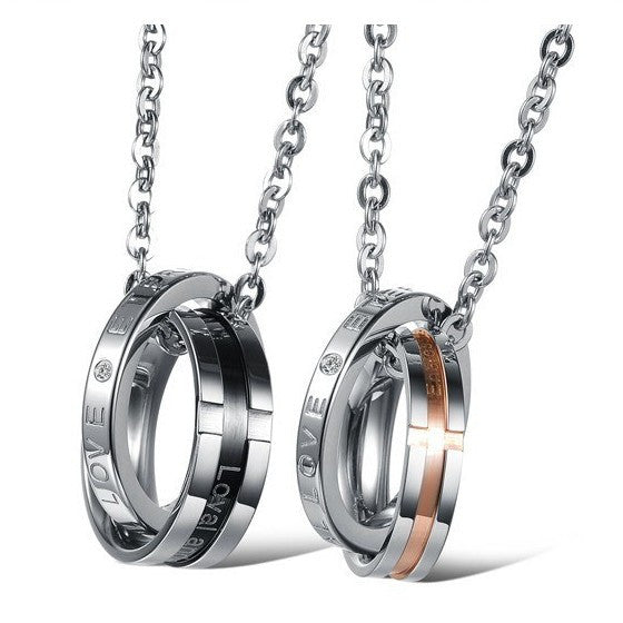 Loyal And Steadfast Endless Couples Necklace(Price For A Pair)