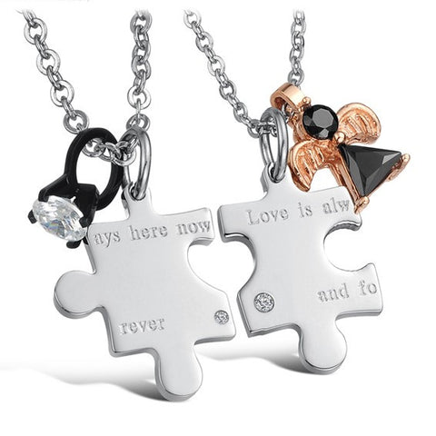 Personalized Titanium Steel Necklaces For Couples(Price For A Pair)